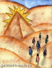 People at pyramid