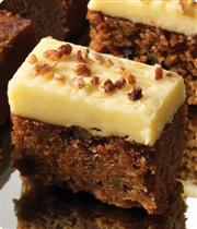 Pumpkin Spice Cake w/ Cream Cheese Frosting & Walnuts