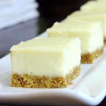 Limoncello Cheesecake Square Bites