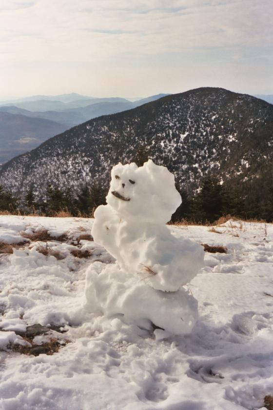 Snowman on Jay Peak, Vermont
