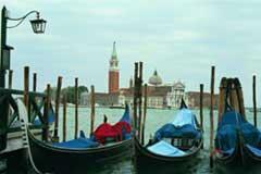 Gondolas in Venice; Size=240 pixels wide