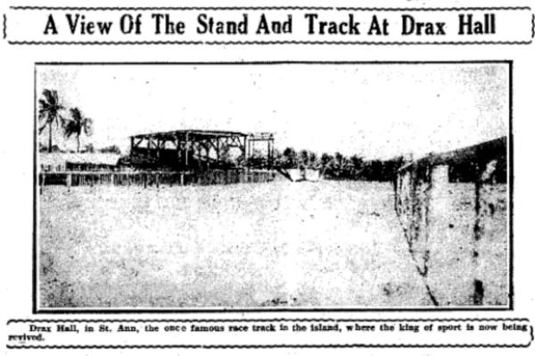 stand and track at Drax Hall, 1923.