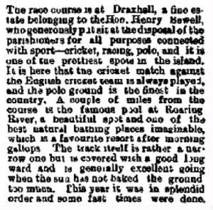 racetrack Drax Hall 1897