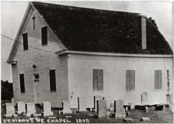 Early undated picture of St. Mary's.