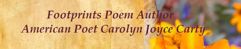 footprints poem author american poet carolyn joyce carty isbn isbn 9781463522834
