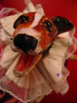 A puppet Jack Russel dog, called Toby