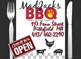 Berkshire County's Newest BBQ and Catering Restaurant - Try Mad Jacks TODAY!