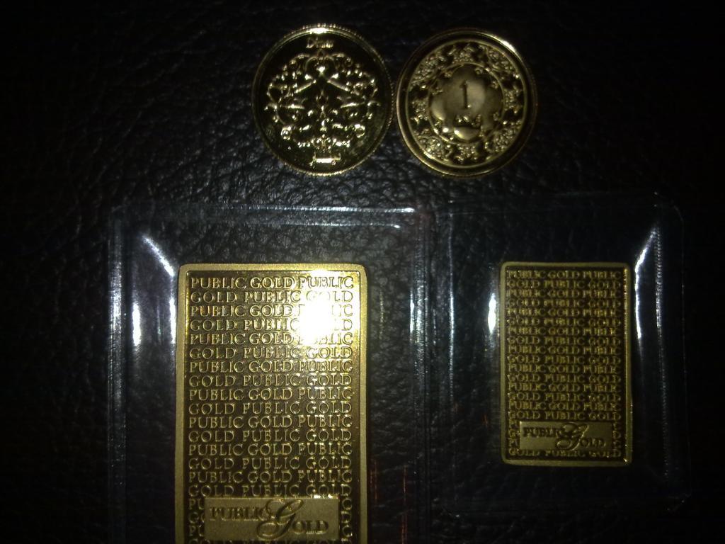 Gold Bar & Dinar