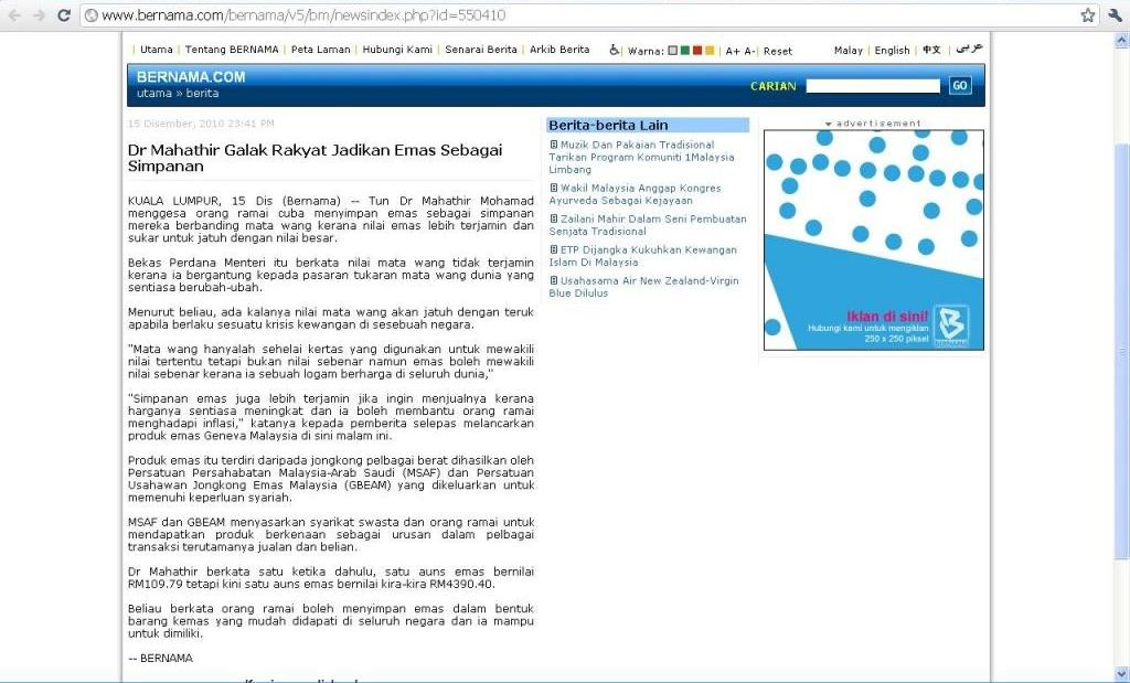 Bernama - Tun Dr Mahathir