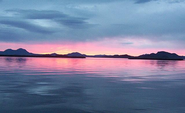beautiful sitka sound sunset